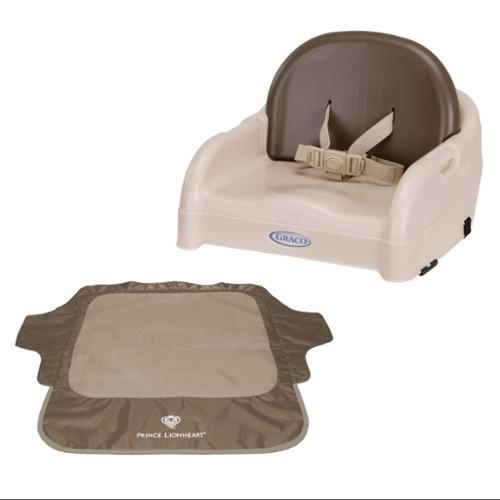 Graco Blossom Booster Seat with Seat Neat Chair Cover, Brown