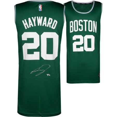 Autographed Boston Celtics Green (Gordon Hayward Boston Celtics Autographed Fanatics Green Fastbreak Jersey - Fanatics Authentic Certified )