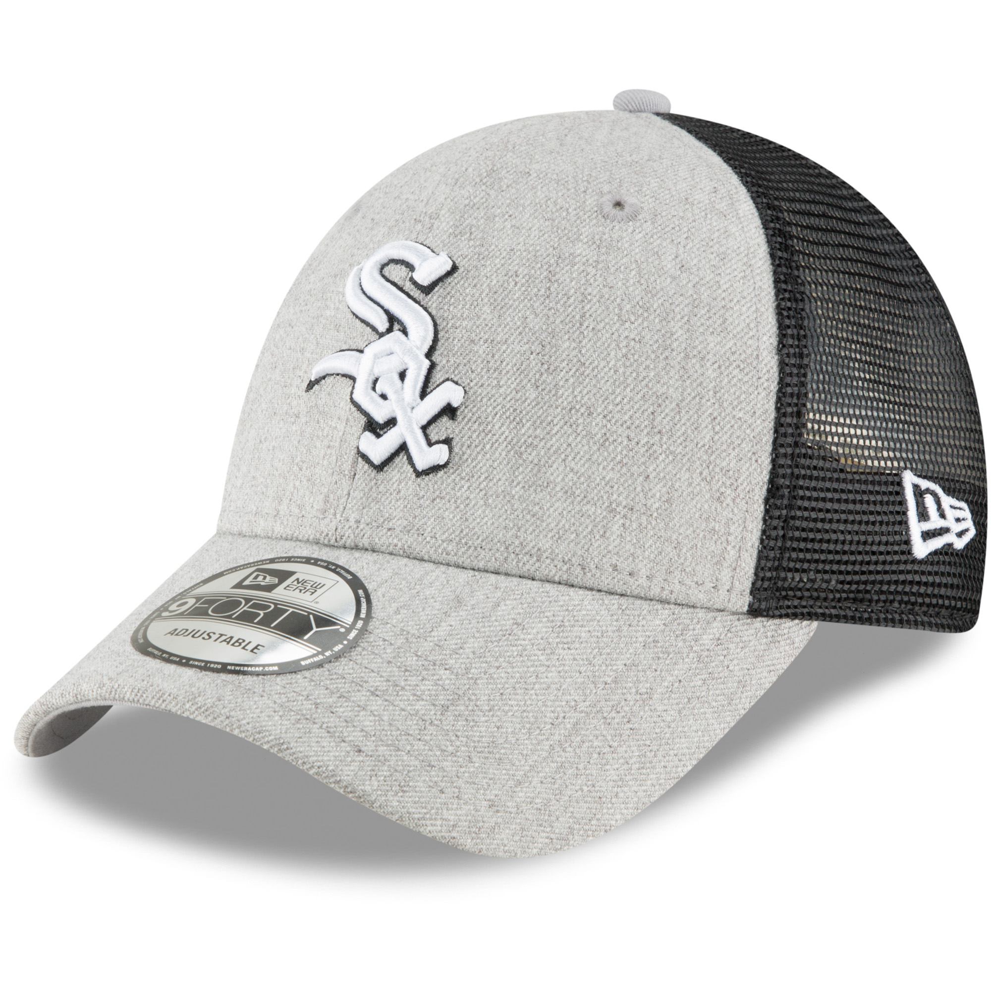 super popular 3615a a7429 ... new zealand chicago white sox new era turn trucker 9forty adjustable  snapback hat heathered gray black