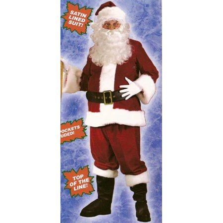 Red and White Ultra Velvet Plus Size Santa Claus Christmas - Plus Size Santa Costumes
