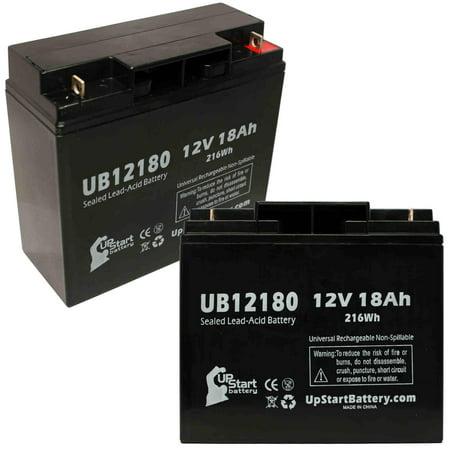 2x Pack - APC SMART-UPS RM SU3000RMX93 Battery Replacement - UB12180 Universal Sealed Lead Acid Battery (12V, 18Ah, 18000mAh, T4 Terminal, AGM, SLA) - image 4 de 4
