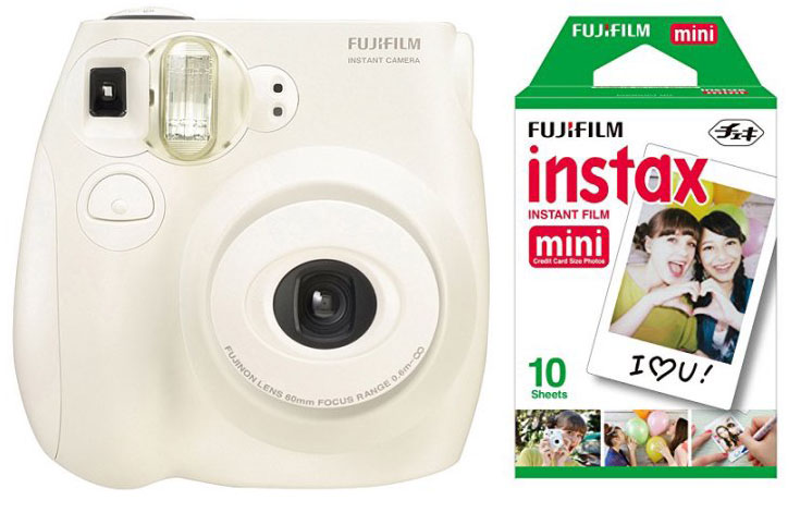 Fujifilm Instax Mini 7s Instant Camera With 10 Pack Film White Walmart Com Walmart Com