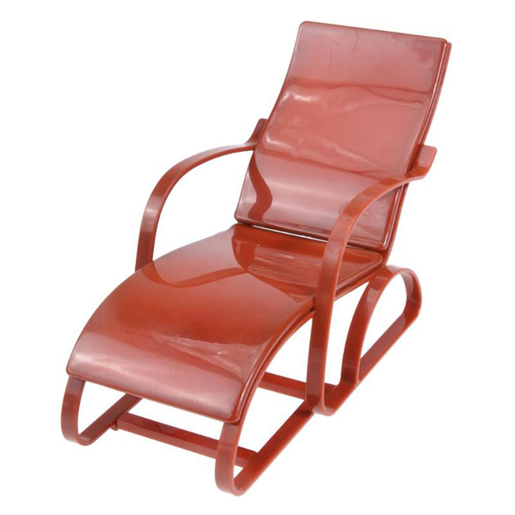 Children Mini Doll Beach Chair Play House Game Toy Doll Furniture Accessory Color:Brown