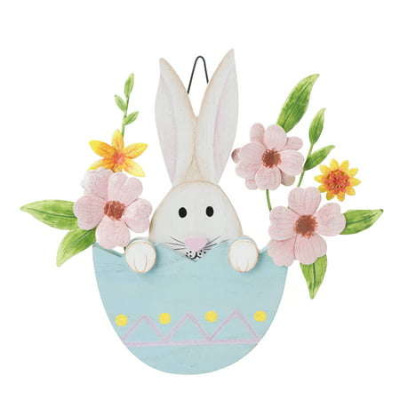 Way To Celebrate Floral Bunny Hanging - Creative Ways To Celebrate Halloween