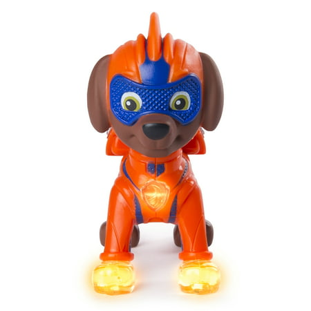 Paw Patrol Pup (PAW Patrol - Mighty Pups Zuma Figure with Light-up Badge and Paws, for Ages 3 and Up, Wal-Mart)