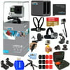 GoPro HERO4 Silver Edition with 2 GoPro Batteries, Dual Charger, Sandisk 16GB Micro SD Card, and Much More!! Everything you Need Bundle!