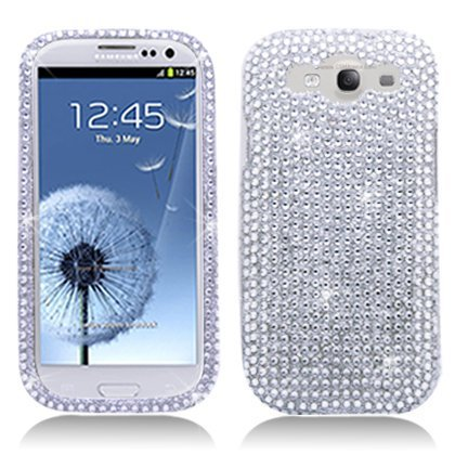 Bling Rhinestone Protector Case for Samsung Galaxy S3 i9300 - Silver](Samsung S3 Case)