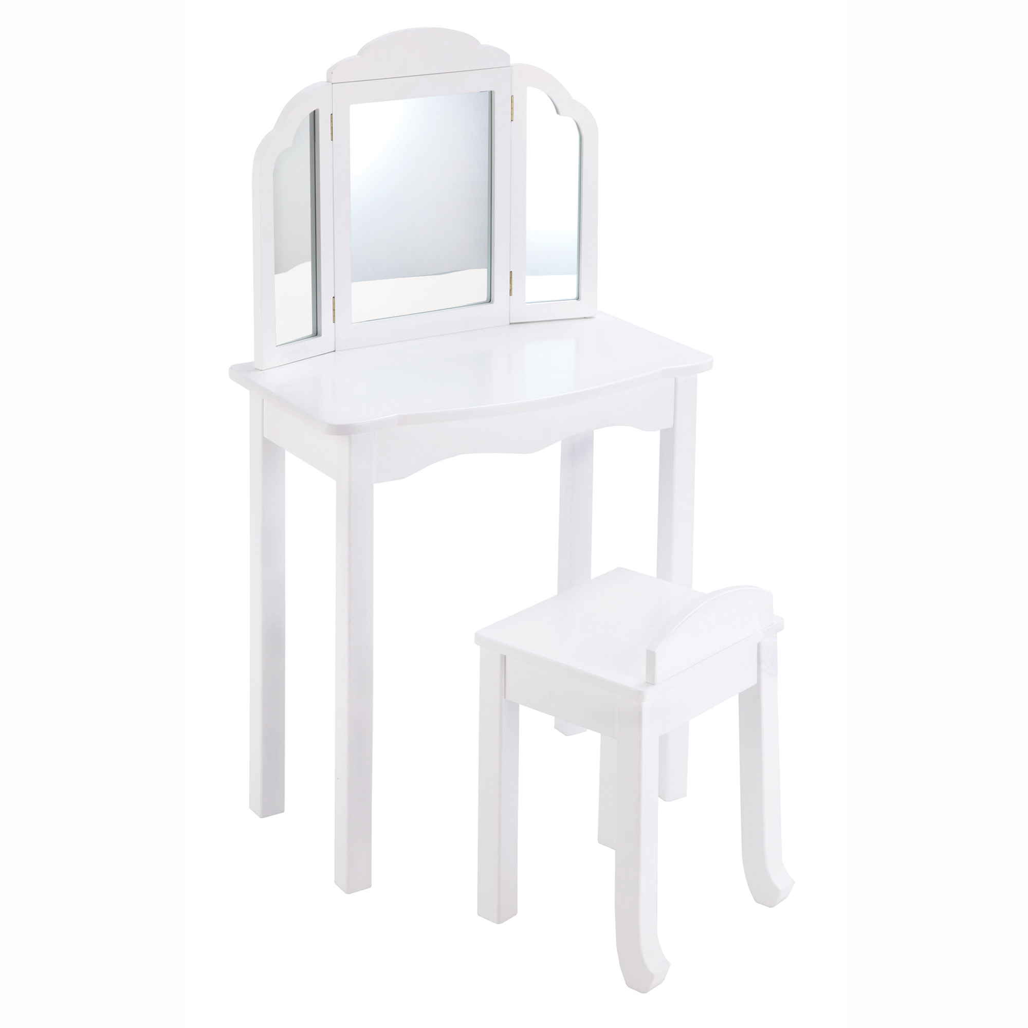 Expressions Vanity And Stool White Walmart Com