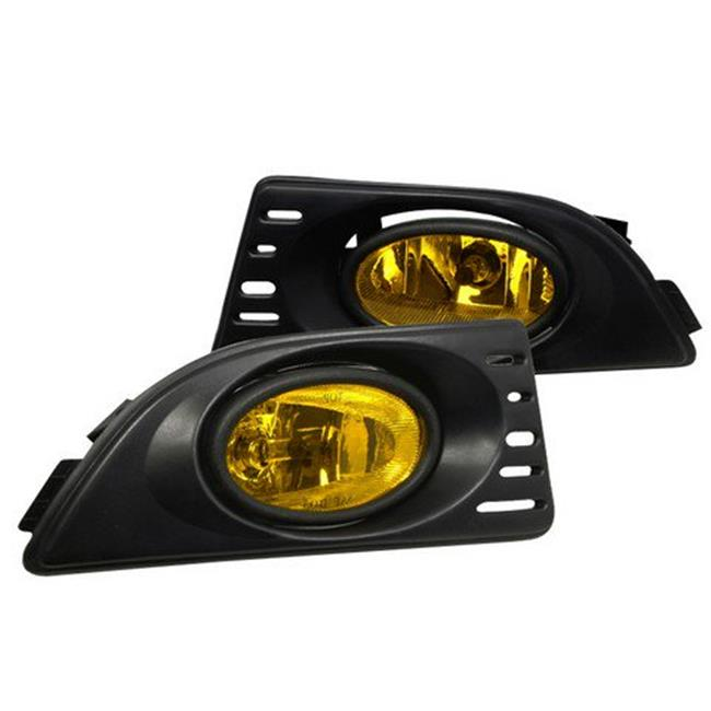 OEM Style Fog Lights for 05 to 06 Acura RSX, Yellow - 10 x 12 x 18 in.