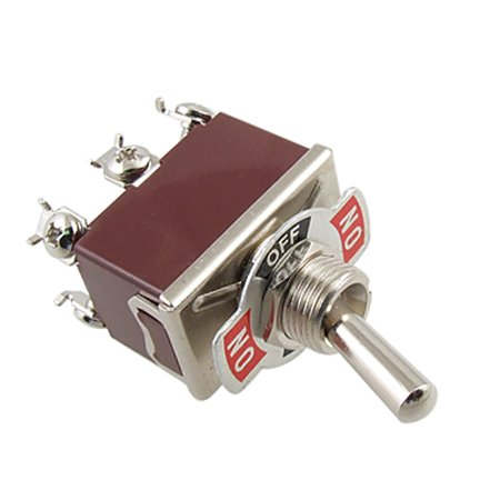 Screw Terminals On/Off/On 3 Way DPDT Latching Toggle Switch  250V 15A