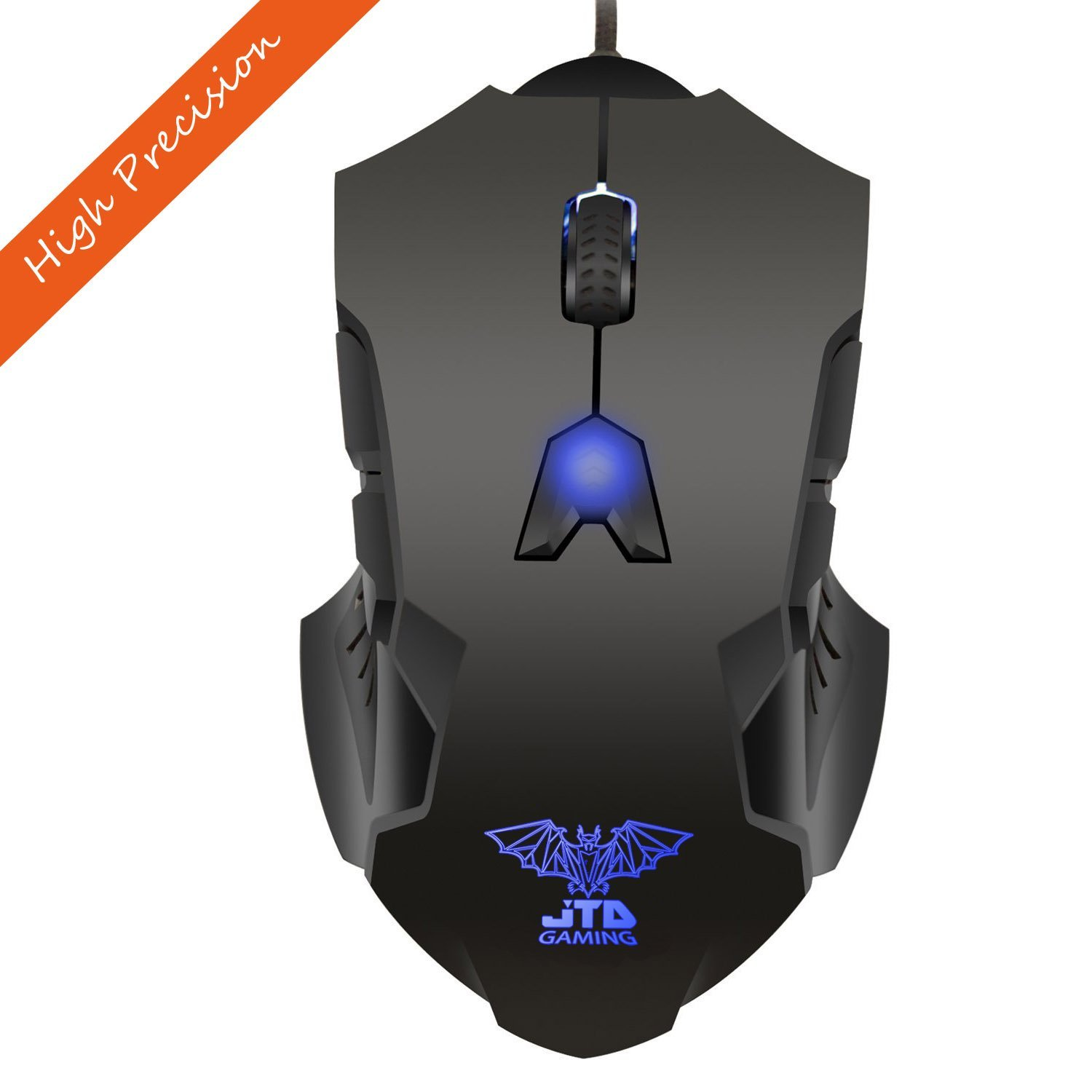 JTD  M999 Professional Gaming Bat High Precision 200 to 8200 DPI Adjustable DPI LED Wired USB Laser Gaming Mouse for Pc, 8 Programmable Buttons, 5 User Profiles, Omron Micro Switches, Avago Sensor