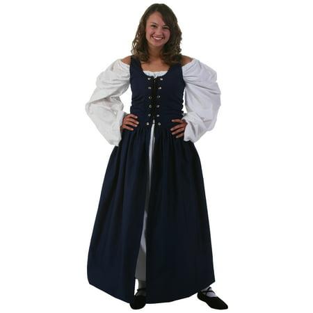 Navy Irish Renaissance Dress - Rennaissance Dresses