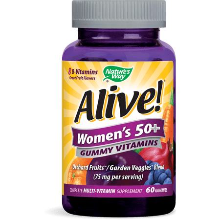Alive! Womens 50+ Gummy Vitamins Multivitamin Supplements 60