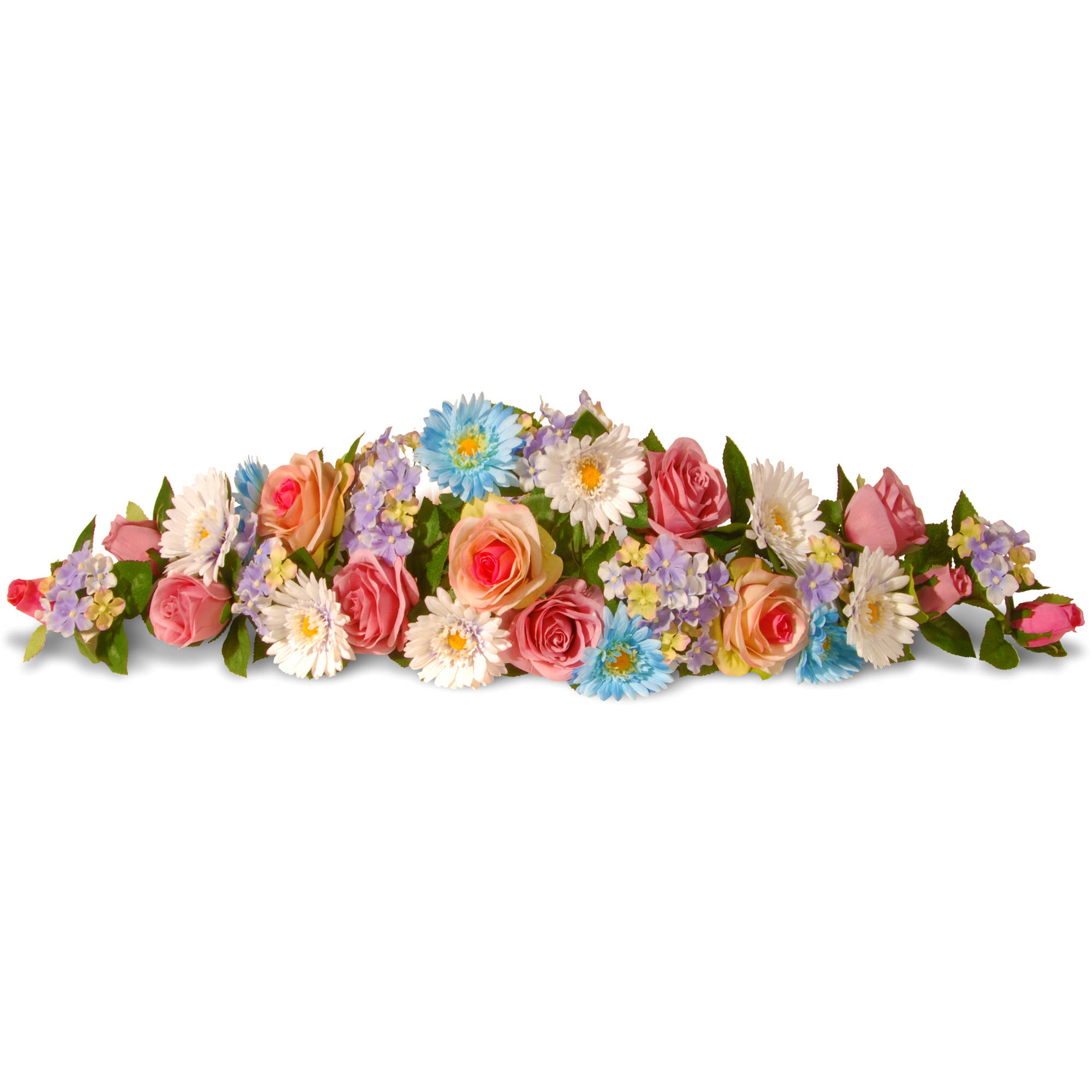 """National Tree Artificial 33"""" Spring Flowers Swag"""
