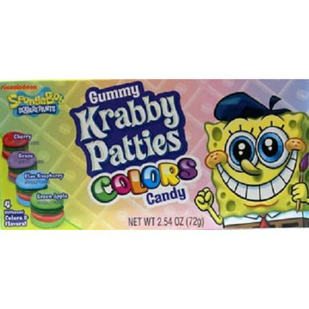 Gummy Krabby Patty (Spongebob Thtr Krabby Patty Color 2.54 Oz - 1 count)