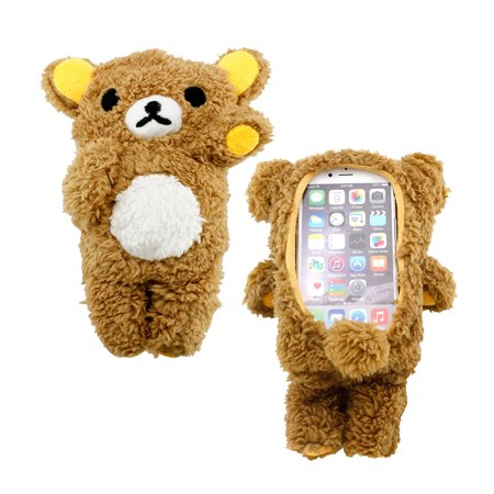 3D Cute Cool Lovely Doll Toy Plush Cover Case Teddy Bear Case Skin for Apple iPhone 6 4.7