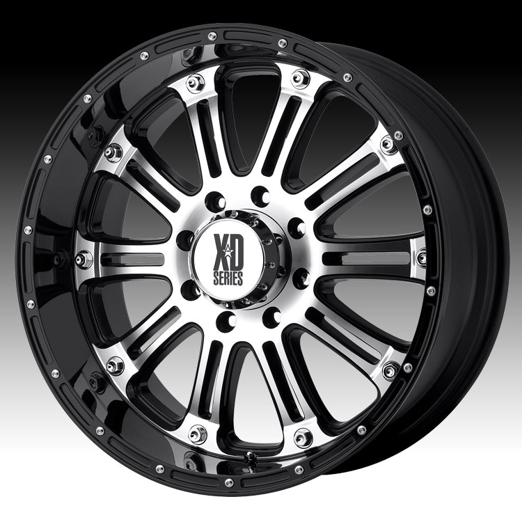 KMC XD XD795 Hoss Machined Black 18x9 8x170 18mm (XD79589...