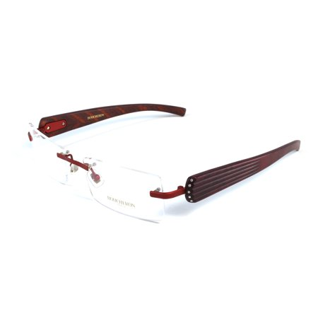 Red Rimless Glasses : Boucheron Unisex Rimless Eyeglasses Red - Walmart.com