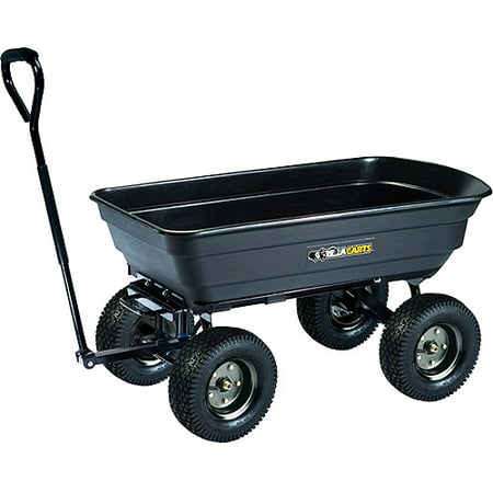 Gorilla Carts Gor200b Poly Garden Dump Cart With Steel Frame And 10 Inch Pneumatic Tires