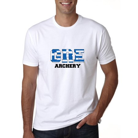 Greece Archery - Olympic Games - Rio - Flag Men's T-Shirt - Greek Goddess Clothing Styles
