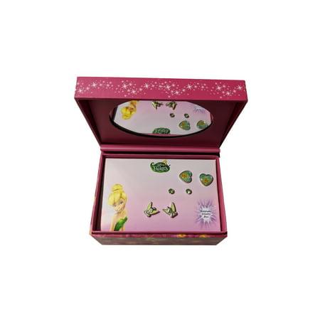 Tinkerbell Stud Earrings Keepsake Mirror Jewelry Box 3 Pack Set