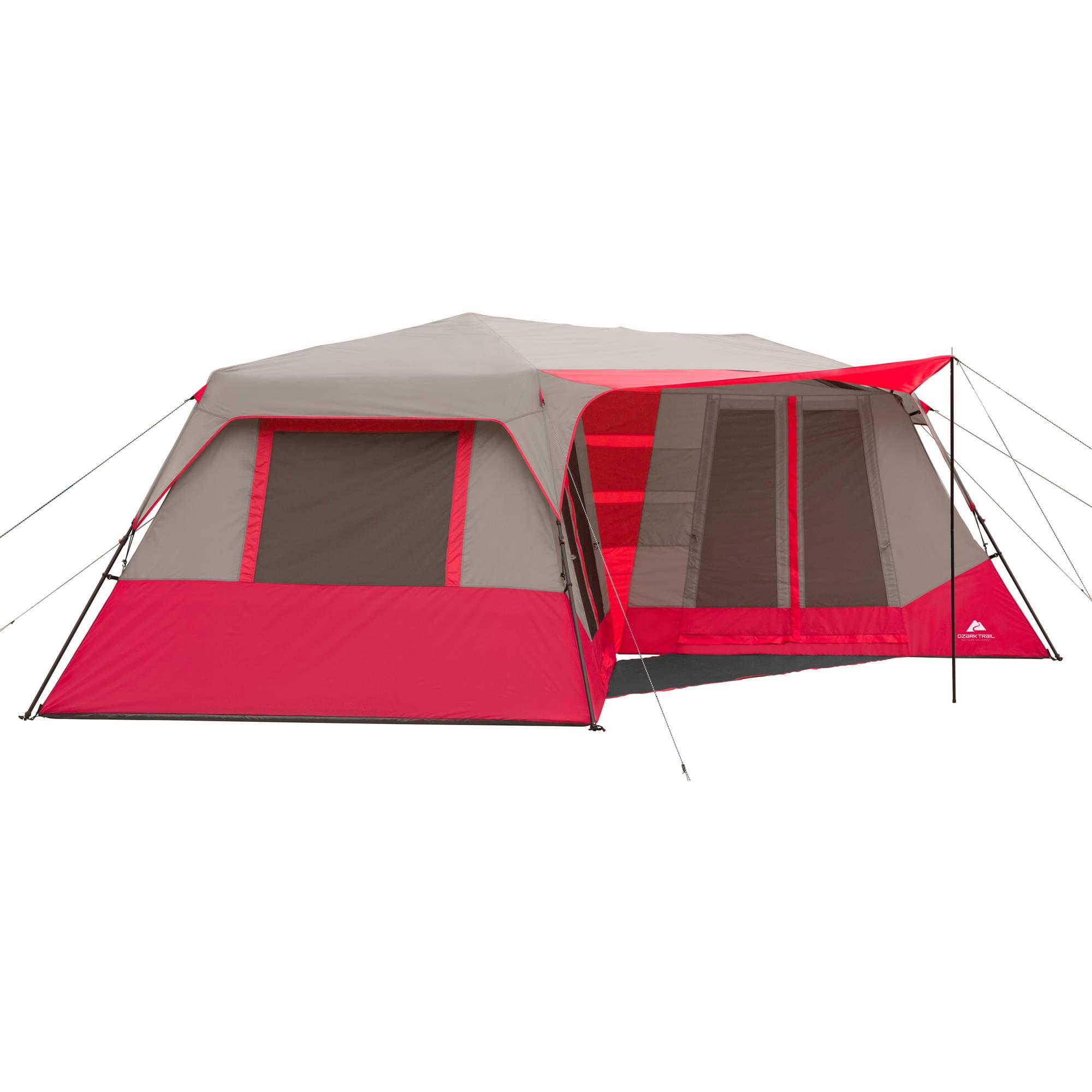 Ozark Trail 25u0027 x 12u00276  Instant Double Villa Cabin Tent Sleeps 10 - Walmart.com  sc 1 st  Walmart & Ozark Trail 25u0027 x 12u00276