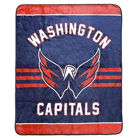 Washington Capitals Luxury Velour High Pile Blanket - Twin Size 60 x 70 Inch [Blue]](Washington Capitals Halloween)