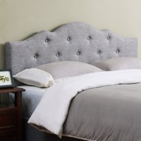 Mainstays Minimal Tufted Rounded Headboard