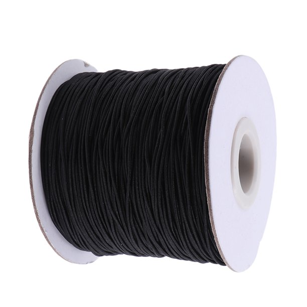 Elastic Cord Beading Threads Stretch String Fabric Crafting Cords For Bracelet Necklaces Jewelry Making 1mm 100 Meter Black Walmart Com Walmart Com