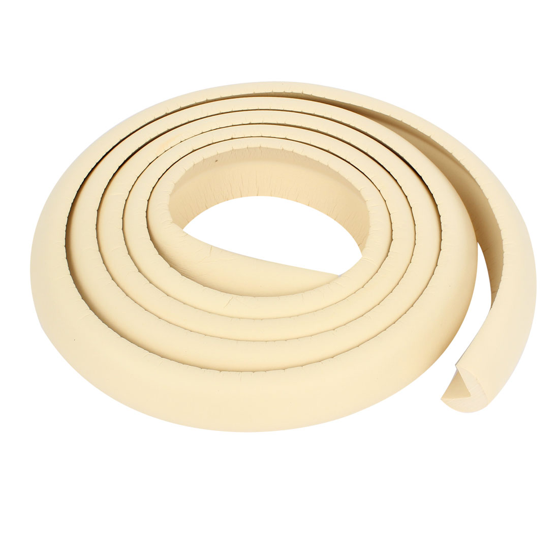Unique Bargains 2m Long 3cm Width Off White Safety Edge Protector Table Corner Guard Strip