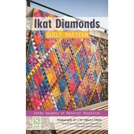 Ikat Diamonds Quilt Pattern : Finished Quilt: 65