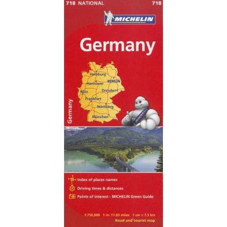 Michelin Map Of Germany.Michelin Germany Map 718
