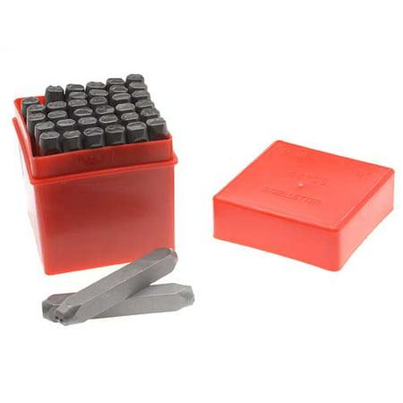 Letter Punch Set - 36 Piece Letter & Number Punch Set For Stamping Metal Large 1/4 Inch 6mm (1 Set)