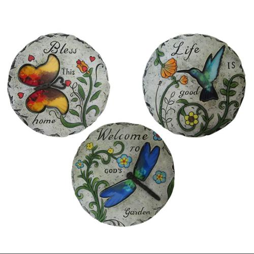 Benzara Inspirational Bird and Insect Stepping Stone by Alpine