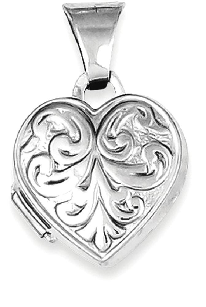 ICE CARATS 925 Sterling Silver Scrolled Heart Photo Pendant Charm Locket Chain Necklace That Holds Pictures Fine Jewelry... by IceCarats Designer Jewelry Gift USA