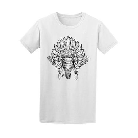 Boho Style Elephant Headdress Tee Men