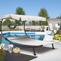 Coral Coast Del Rey Double Chaise Lounge with Canopy Deals