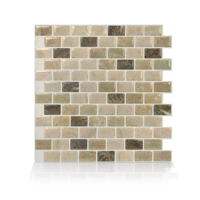 - Smart Tiles 9.80 In X 9.74 In Peel And Stick Self-Adhesive Mosaic Backsplash  Wall Tile - Ravenna Terra (4-Pack) - Walmart.com - Walmart.com