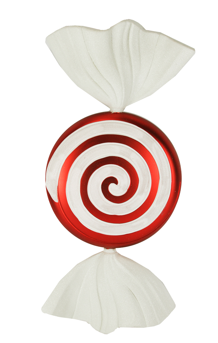 large peppermint twist wrapped candy shatterproof christmas ornament 18 walmartcom - Peppermint Candy Christmas Ornaments