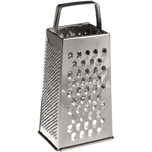 """Winware by Winco Cheese Grater Box Style - Tapered - Stainless Steel - 9"""" H."""