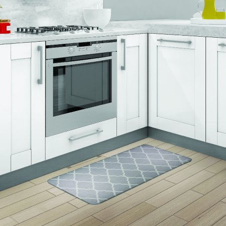 Cuisinart Moroccan Ogee Cool Grey Kitchen Mat (Cool Kitchen)