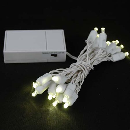 novelty lights 20 light battery operated led christmas mini light set white wire 8