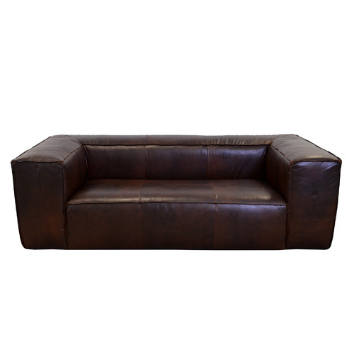 Westland And Birch Lawton Genuine Top Grain Leather Sofa
