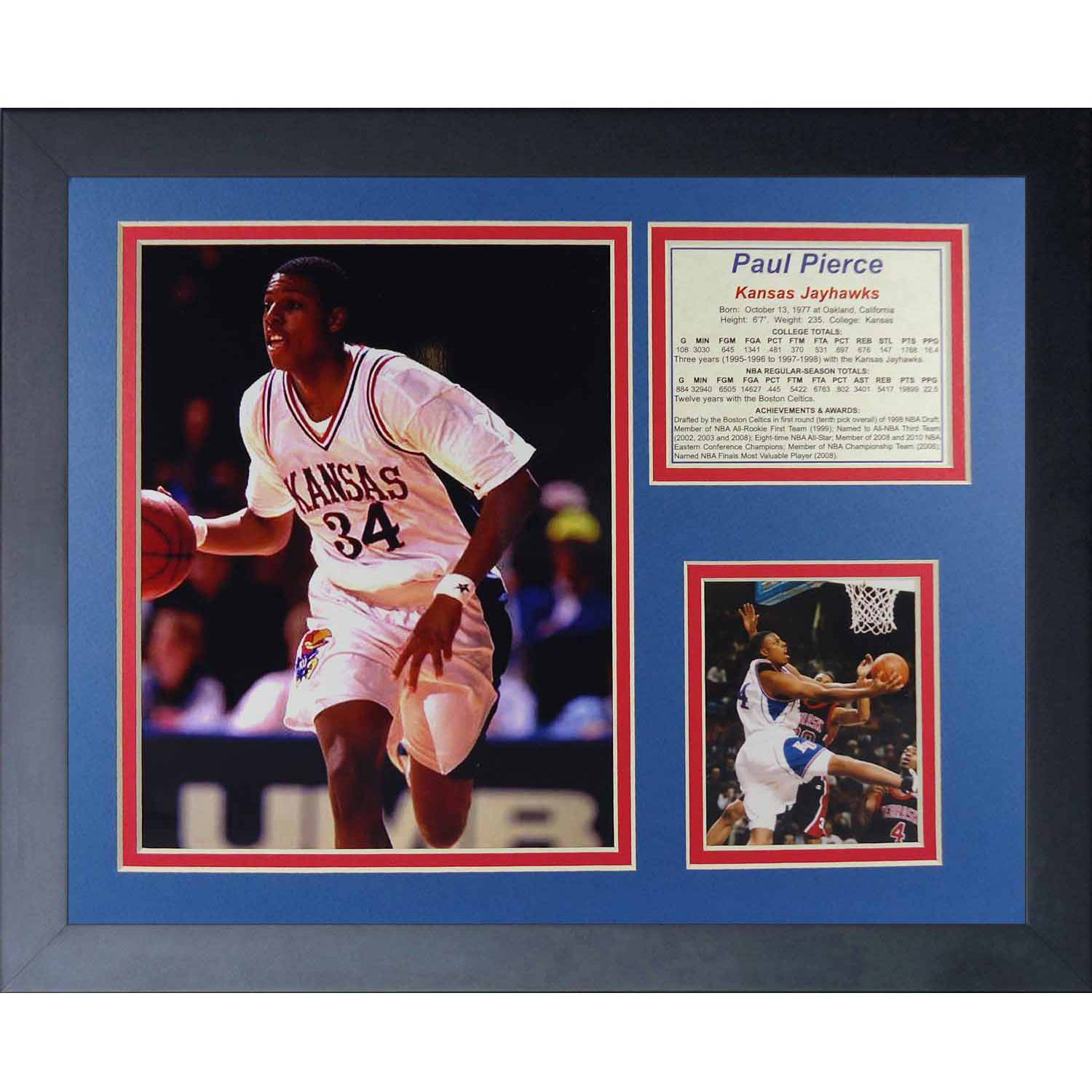 "Legends Never Die Paul Pierce Kansas Jayhawks Collage Photo Frame, 11"" x 14"""