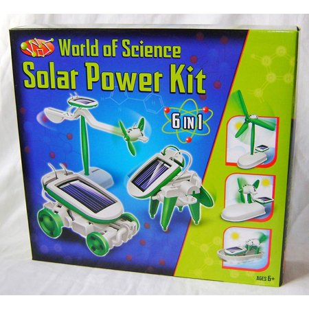 Playwrite New World of Science Solar Power Robot Kit Build 6 Different Models TY110 Sale 6 in 1 Solar Powered Kit Ages 6+