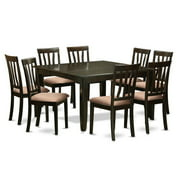 East West Furniture Parfait 9 Piece Splat Back Dining Table Set