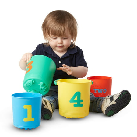 Melissa and Doug Seaside Sidekicks Nesting Pails Sand Toys