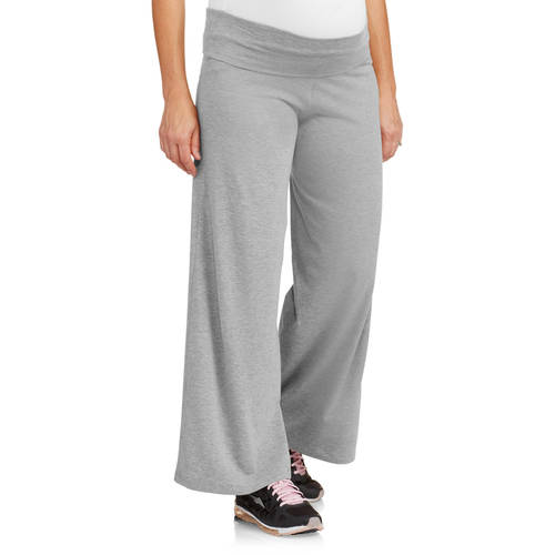 Planet Motherhood Maternity Wide Leg Yoga Pants - Walmart.com