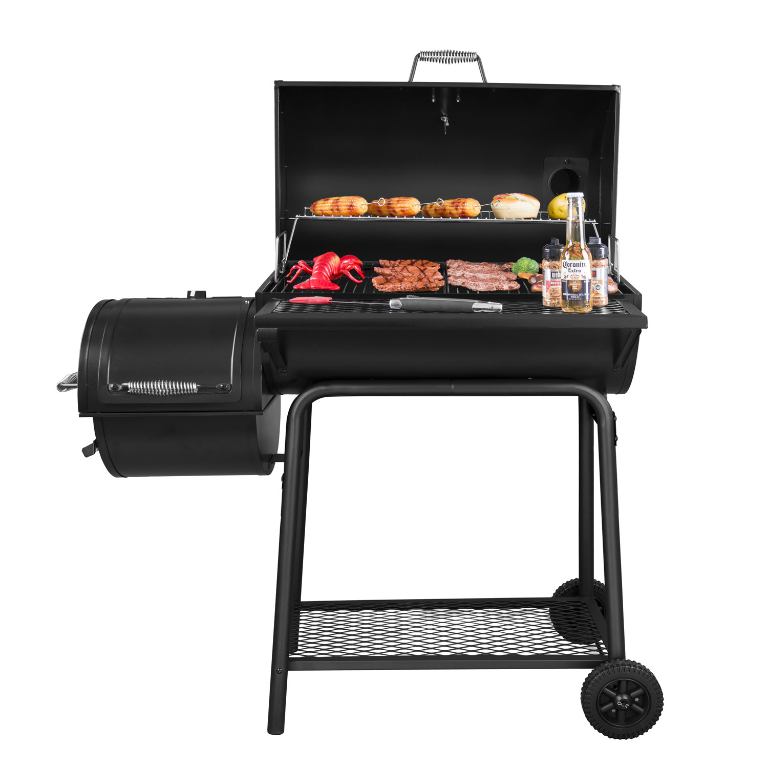 Royal Gourmet 30'' Barrel Charcoal Grill with Smoker