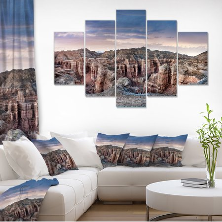 Charyn Canyon In Kazakhstan - Large Landscape Canvas Art - image 3 of 3